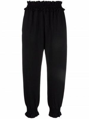 Укороченные брюки со сборками Simone Rocha. Цвет: черный