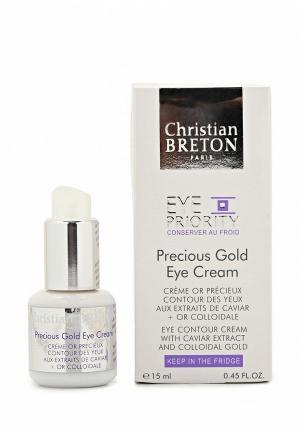 Крем для кожи вокруг глаз Christian Breton Paris Золотая драгоценность, 15 мл. Цвет: белый