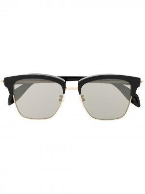Солнцезащитные очки Piercing Alexander McQueen Eyewear. Цвет: коричневый