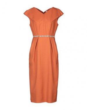 Платье длиной 3/4 ANTONIO MARRAS. Цвет: ржаво-коричневый