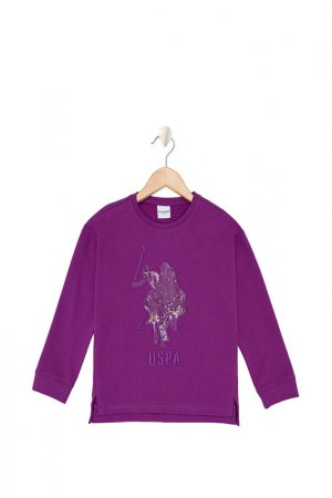 Свитшот U.S. Polo Assn.. Цвет: vr037 фиолетовый