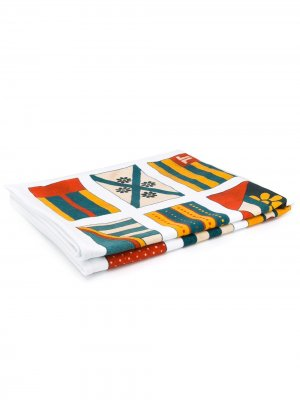 Пляжное полотенце с принтом LANVIN. Цвет: белый