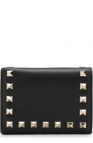Кожаный кошелек Garavani Rockstud Valentino. Цвет: черный