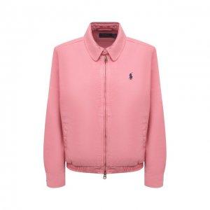 Джинсовая куртка Polo Ralph Lauren. Цвет: розовый