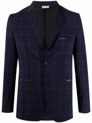 Однобортный пиджак Comme Des Garçons Homme Deux. Цвет: синий