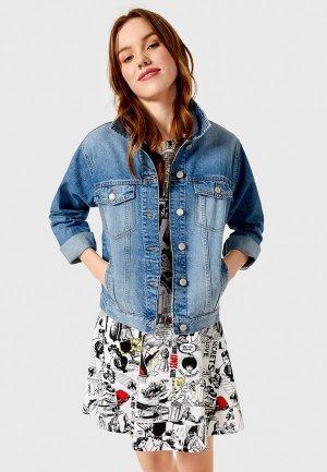 Куртка джинсовая Ostin O'stin. Цвет: голубой
