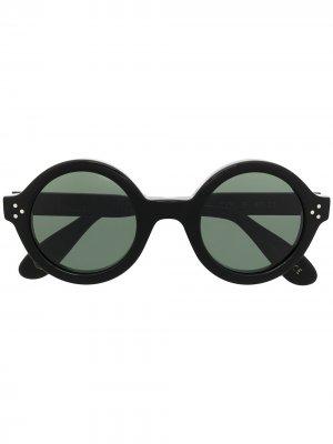 Солнцезащитные очки Phil в круглой оправе Lesca. Цвет: черный