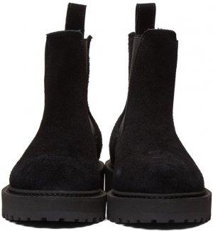Black Suede Alberone Chelsea Boots Diemme. Цвет: black suede