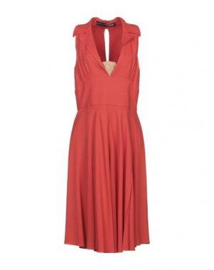 Платье до колена AQUILANO-RIMONDI. Цвет: кирпично-красный