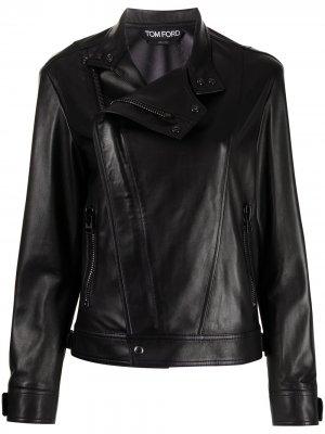 Байкерская куртка TOM FORD. Цвет: черный