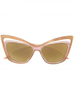 Солнцезащитные очки в двойной оправе кошачий глаз Christian Roth. Цвет: нейтральные цвета