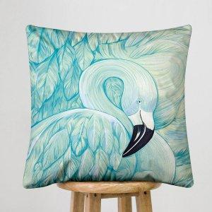 Чехол для подушки без наполнителя лебедь принтом SHEIN. Цвет: многоцветный