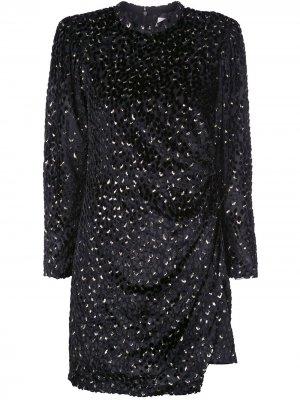Короткое платье с запахом A.L.C.. Цвет: черный