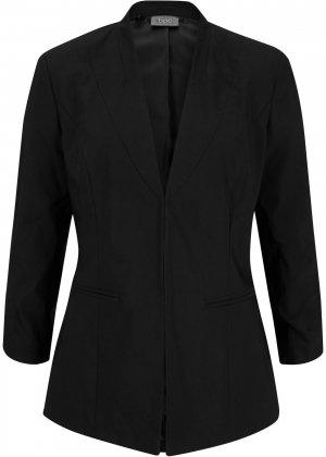 Пиджак стрейч bonprix. Цвет: черный