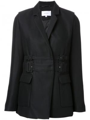 Пиджак с двойным поясом Carven. Цвет: черный