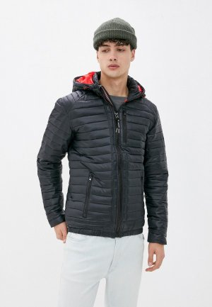 Куртка утепленная Indicode Jeans Mark. Цвет: черный
