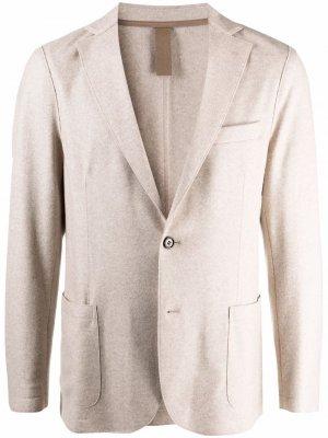 Однобортный пиджак строгого кроя Eleventy. Цвет: нейтральные цвета