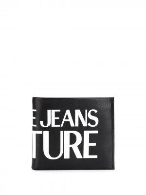 Бумажник с логотипом Versace Jeans Couture. Цвет: черный