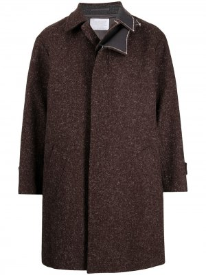 Однобортное многослойное пальто Kolor. Цвет: красный