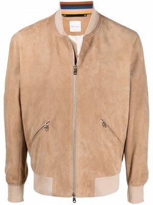 Куртка-бомбер PAUL SMITH. Цвет: коричневый