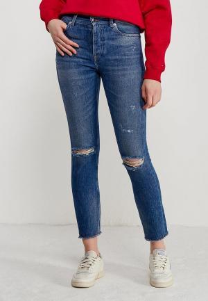 Джинсы Tommy Jeans HIGH RISE SLIM IZZY. Цвет: синий