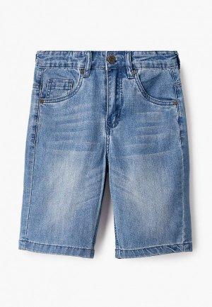 Шорты джинсовые Finn Flare. Цвет: синий