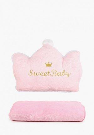 Подушка декоративная Dream Time и плед. Цвет: розовый