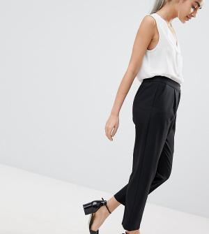 Зауженные брюки ASOS DESIGN Petite-Черный Petite