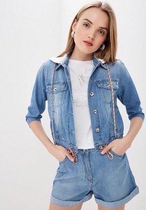 Куртка джинсовая Patrizia Pepe. Цвет: синий