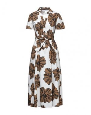 Платье длиной 3/4 CARACTÈRE. Цвет: белый