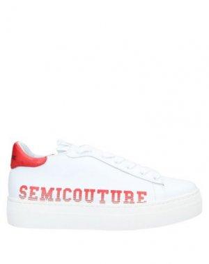 Низкие кеды и кроссовки SEMICOUTURE. Цвет: белый