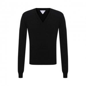 Шерстяной пуловер Bottega Veneta. Цвет: чёрный