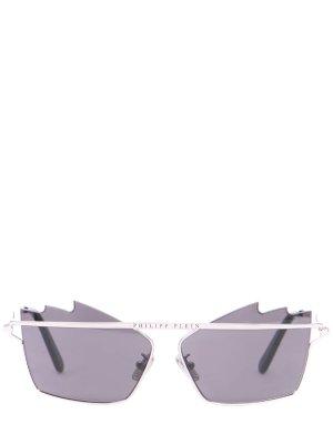 Очки солнцезащитные Philipp Plein. Цвет: серебристый