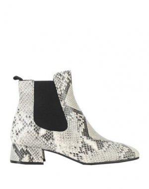 Полусапоги и высокие ботинки BRUNO PREMI. Цвет: светло-серый