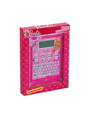 Обучающий планшет русско-английский,120 функции, BARBIE , вертикальный.. Цвет: розовый, белый