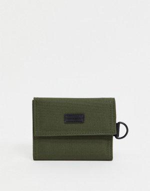 Бумажник цвета хаки Consigned-Зеленый цвет Fenton