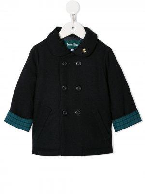 Двубортное пальто Familiar. Цвет: синий