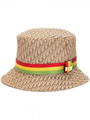 Шляпа pre-owned с узором Trotter Christian Dior. Цвет: коричневый