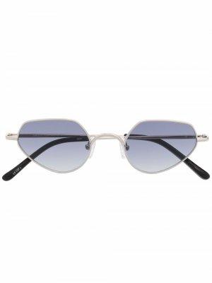 Солнцезащитные очки из коллаборации с Dries Van Noten Linda Farrow. Цвет: серебристый