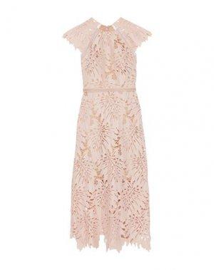 Платье длиной 3/4 CATHERINE DEANE. Цвет: розовый