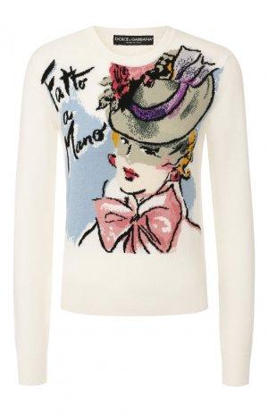 Кашемировый пуловер Dolce & Gabbana. Цвет: разноцветный