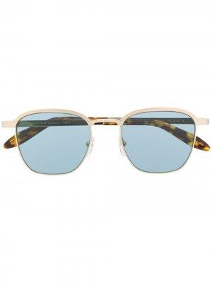 Солнцезащитные очки Mish в квадратной оправе Moscot. Цвет: коричневый