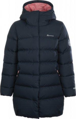 Куртка пуховая для девочек , размер 158 Outventure. Цвет: синий