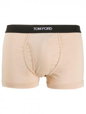 Боксеры с логотипом Tom Ford. Цвет: нейтральные цвета