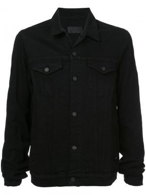Джинсовая куртка на пуговицах Rta. Цвет: чёрный