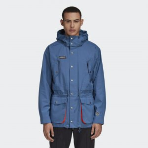 Куртка-анорак Standish Originals adidas. Цвет: синий