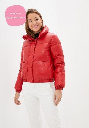 Куртка кожаная Fadjo. Цвет: красный
