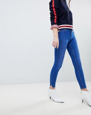 Зауженные джинсы Jenna-Синий New Look
