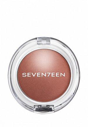 Румяна Seventeen перламутровые PEARL BLUSH POWDER т.02 корица, 7.5 г. Цвет: коричневый