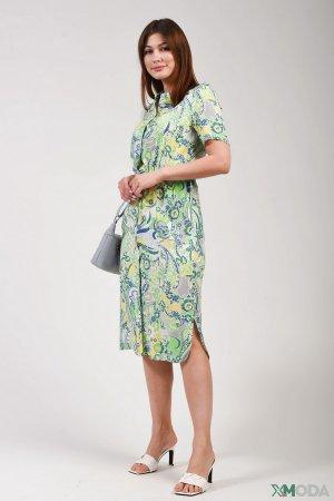Платье Lebek. Цвет: зелёный